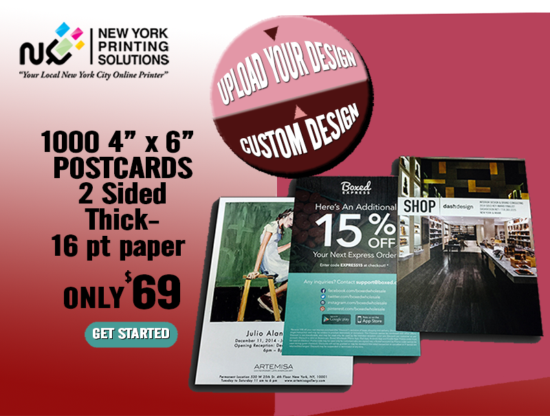 Postcards Discount NYC full color postcards printed 2 sides